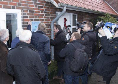 Hofschildübergabe bei Familie Groeneveld in Emden