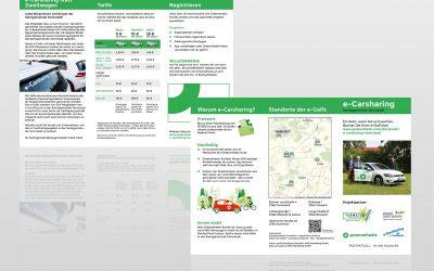 Flyer für die Samtgemeinde Tarmstedt: Neues e-Carsharing-Angebot