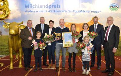 """Familie Scholten-Meilink zum zweiten Mal """"Bester Milcherzeuger Niedersachsens"""""""