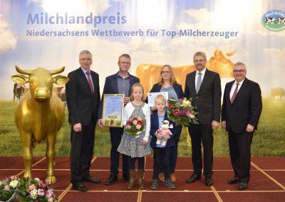 Kathrin und Dirk Rehbock belegten gemeinsam mit ihren Kinder den 4. Platz.