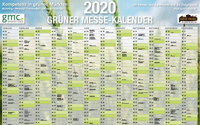 Grüner Messe-Kalender 2020