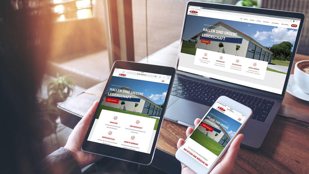 Corporate Website: E.L.F Hallen und Maschinenbau GmbH