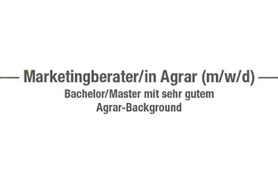 Gesucht: Marketingberater/in Agrar (m/w/d)